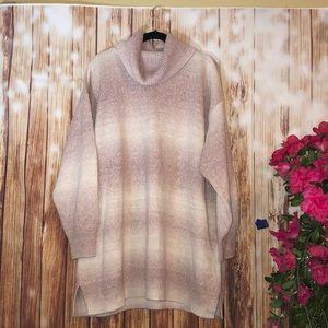 Chaps Plus Size Pink Ombré Sweater